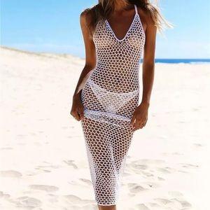 Turks Blanc, Sexy Knitted Beach Peekaboo Coverup
